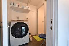 脱衣室の様子。(2018-02-01,共用部,BATH,1F)