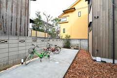 自転車置き場の様子。(2020-03-13,共用部,GARAGE,1F)