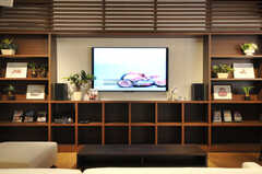 共用TVの様子。(2014-01-20,共用部,TV,1F)