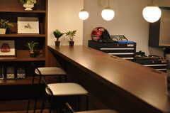 カウンターテーブルの様子。(2014-01-20,共用部,OTHER,1F)