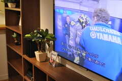共用TVの様子。(2014-01-30,共用部,LIVINGROOM,1F)