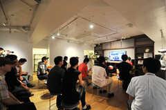トークイベントの様子。(2014-09-14,共用部,PARTY,1F)