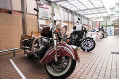 イベント時は屋外駐輪場にはインディアンのバイクが展示されていました。(2014-09-14,共用部,GARAGE,1F)