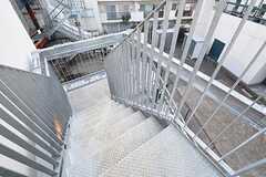 非常階段の様子。(2016-11-07,共用部,OTHER,3F)