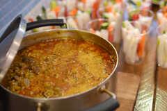 フードイベントではガーナ料理が振舞われました。(2014-10-02,共用部,PARTY,3F)