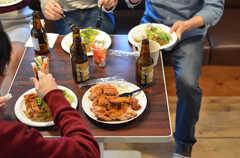 ラウンジでフードイベントが開催された時の様子4。(2014-10-02,共用部,PARTY,3F)