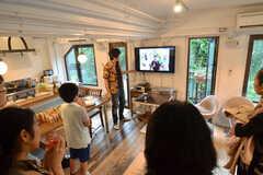 イベントではスパイス「パラダイスシード」のプレゼンも行われました。(2014-10-02,共用部,PARTY,3F)