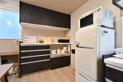 食器棚の様子。(2019-03-20,共用部,KITCHEN,1F)