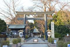松陰神社の様子。(2018-01-17,共用部,ENVIRONMENT,1F)