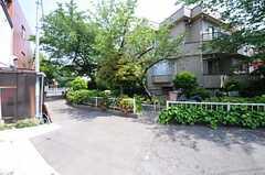 近くには緑道があります。(2013-05-10,共用部,ENVIRONMENT,1F)