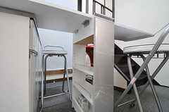 事業者さんお手製のダイニングカウンター。(2012-09-17,共用部,LIVINGROOM,1F)