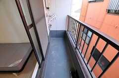 ベランダの様子。(302号室)(2010-12-28,専有部,ROOM,3F)