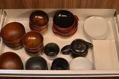 食器は引き出しの中に収納します。(2013-09-05,共用部,KITCHEN,3F)