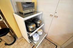 炊飯器、電気ポットは2台ずつ。家電にもこだわっています。(2010-08-27,共用部,KITCHEN,1F)
