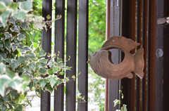 玄関には木魚がゆらゆら。(2014-10-08,周辺環境,ENTRANCE,1F)