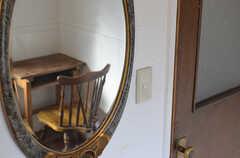 鏡の様子。(202号室)(2014-10-08,専有部,ROOM,2F)