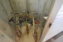 共用の自転車置き場の様子。駐輪場はありません。(2013-02-27,共用部,GARAGE,1F)