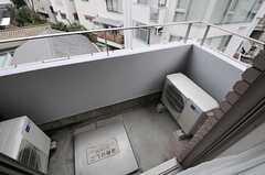 ベランダの様子。(507号室)(2013-02-27,専有部,ROOM,5F)