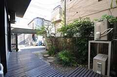 庭の様子2。庭は喫煙可能です。(2012-08-31,共用部,OTHER,1F)