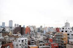 ベランダからは六本木ヒルズと東京タワーが見えます。(801号室)(2014-04-02,専有部,ROOM,8F)