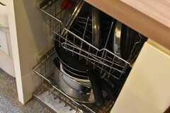 鍋類はシンクの下に収納されています。 (2020-12-08,共用部,KITCHEN,-1F)