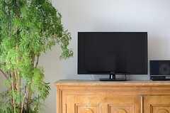 共用TVの様子。(2013-04-25,共用部,TV,2F)