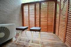 ウッドデッキのテラス付きです。(107号室)(2011-11-10,専有部,ROOM,1F)