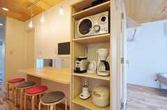 キッチン家電の様子。(2013-08-14,共用部,KITCHEN,1F)