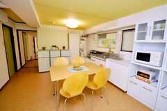 シェアハウスのラウンジの様子3。(2009-02-02,共用部,LIVINGROOM,9F)