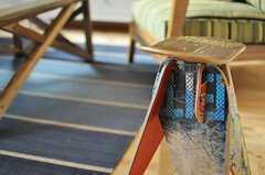 こちらのスツールはスケートボードのリプロダクト。(2013-02-21,共用部,LIVINGROOM,)