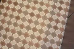 パウダールームとトイレの床はレトロなデザインのビニルタイル。(2016-10-26,共用部,TOILET,2F)