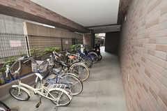 自転車置場の様子。(2009-10-09,共用部,GARAGE,1F)