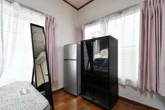 全室に冷蔵庫が設置されています。(101号室)(2019-05-14,専有部,ROOM,1F)