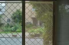 窓からは緑が程よく見えます。(101号室)(2013-06-28,専有部,ROOM,1F)