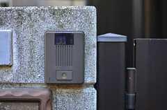 カメラ付きインターホンの様子。(2013-01-31,周辺環境,ENTRANCE,1F)