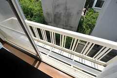 窓には手すりが付いています。(203号室)(2011-08-17,専有部,ROOM,2F)
