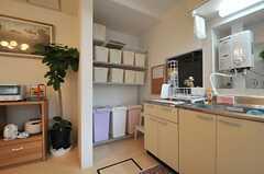 キッチンの様子2。(2014-02-27,共用部,KITCHEN,1F)