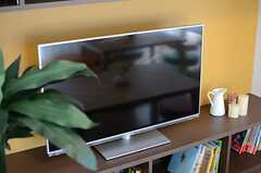 共用TVの様子。(2014-03-11,共用部,TV,1F)