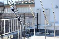 物干しができる器具も設置。(2014-03-11,共用部,OTHER,5F)
