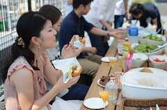 おいしそうなハンバーガー。(House Trip -代官山にいきつけをつくる-)(2014-07-27,共用部,PARTY,5F)