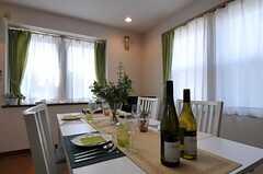 食をテーマにしています。毎月運営事業者さんよりワインが差し入れられるそう。(2011-09-09,共用部,OTHER,2F)