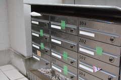 部屋ごとに設けられた郵便受け。(2020-10-08,周辺環境,ENTRANCE,1F)