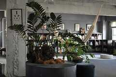 大きなシンボルグリーン。カッコイイです。(2013-10-30,共用部,LIVINGROOM,6F)