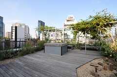 廊下の様子2。奥にはベンチ席があります。(2013-10-30,共用部,OTHER,6F)