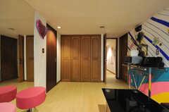 共用の収納スペースの様子。(2011-09-22,共用部,LIVINGROOM,4F)