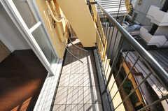 ベランダの様子。(404号室)(2009-12-08,専有部,ROOM,4F)