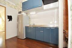 シェアハウスのキッチンの様子。(2009-12-08,共用部,KITCHEN,3F)