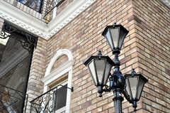 雰囲気のあるガス灯。(2009-12-08,共用部,OTHER,1F)