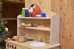 木製のミニキッチンセットの様子。(2019-12-19,共用部,OTHER,2F)