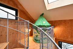 螺旋階段の途中にある通称「踊り場」と呼ばれるスペース。こどもの籠もり場。(2019-12-19,共用部,OTHER,2F)
